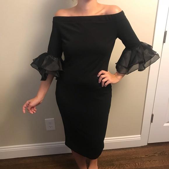 Dresses & Skirts - Fun Fab Black bodycon dress